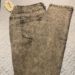 Gray Acid Wash Jeans